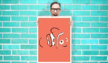 Disney Finding Nemo - Face Art - Wall Art Print Poster Pick A Size - Cartoon Art Geekery